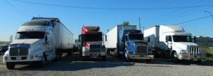 Derek Browns fleet of training trucks
